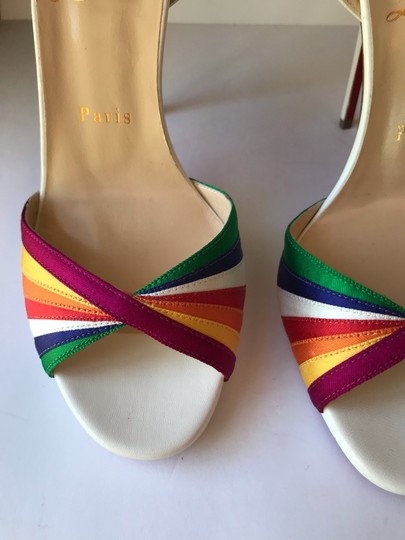 Christian Louboutin White with Multicolored straps Sandals Image 4