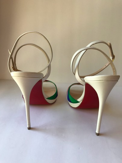 Christian Louboutin White with Multicolored straps Sandals Image 5