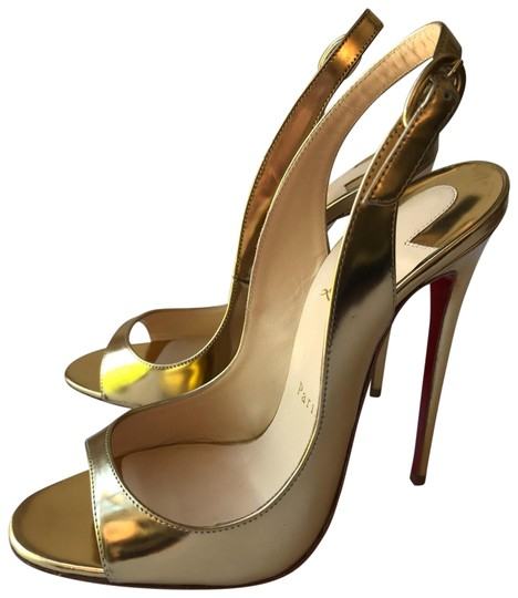 Christian Louboutin gold Pumps Image 0