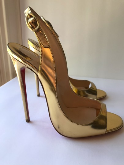 Christian Louboutin gold Pumps Image 7