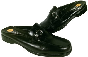Bass Famous Leather BLACK Mules