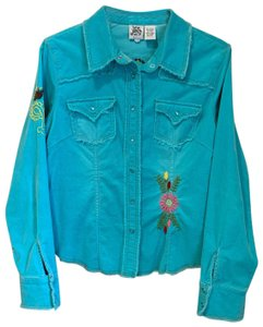 ivivva Button Down Shirt turquoise