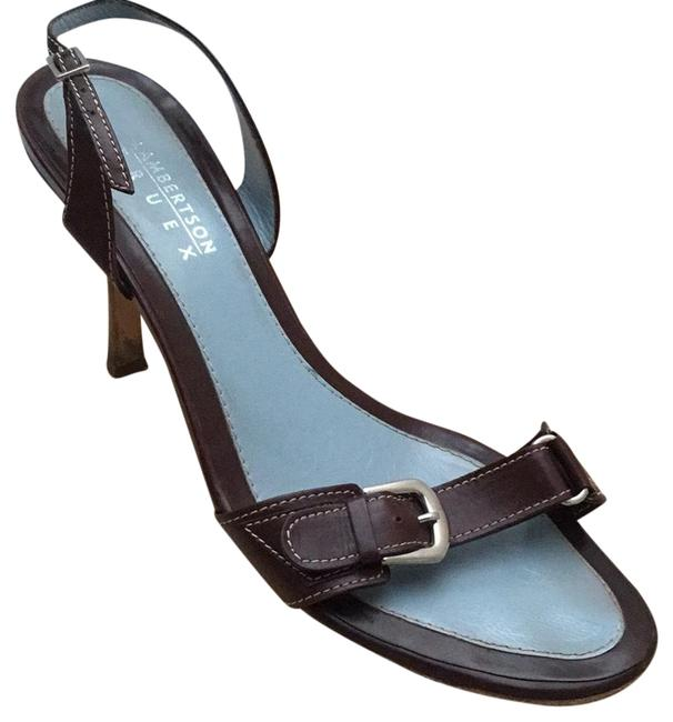 Item - Brown Slingback Leather Heels with Buckle 39 Or A Italy Sandals Size US 9 Regular (M, B)