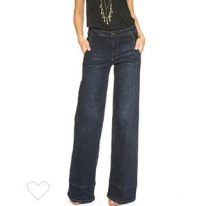 Free People Flare Leg Jeans-Dark Rinse