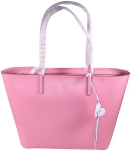 Kate Spade Leather New With Tags Tote in Bright Carnation Pink