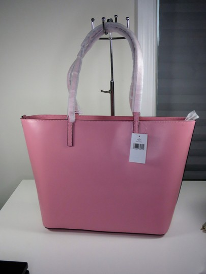 Kate Spade Leather New With Tags Tote in Bright Carnation Pink Image 2