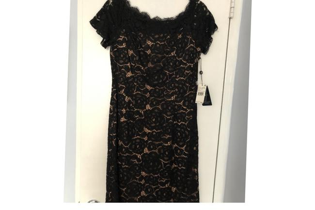 Item - Black and Beige 014251850 Mid-length Cocktail Dress Size 8 (M)