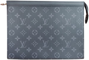 Louis Vuitton Monogram Mens Damier Gray Grey Clutch