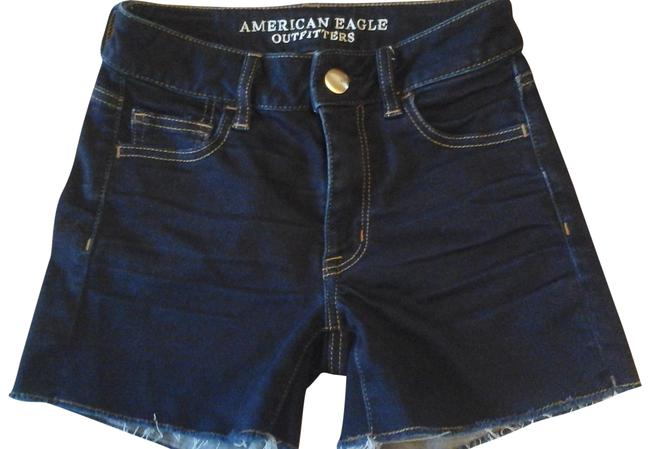 Item - Dark Blue Hi-rise Jean Shorts Size 0 (XS, 25)
