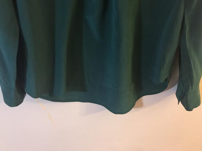 J.Crew Silk E2750 Holiday Top Green Image 2
