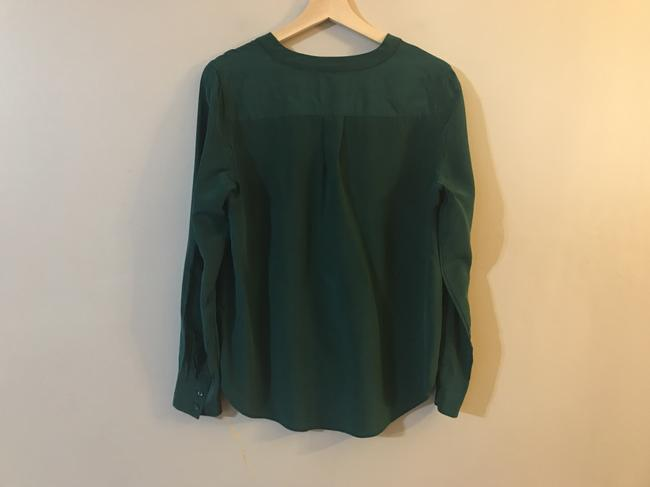 J.Crew Silk E2750 Holiday Top Green Image 5