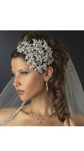 Silver Vintage Couture Headband Hair Accessory