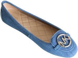 Michael Kors Moccosin Lillie Denim Blue Flats