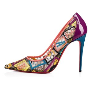 952524fb4612 Christian Louboutin Pigalle Follies Stiletto Glitter Classic multicolor  Pumps