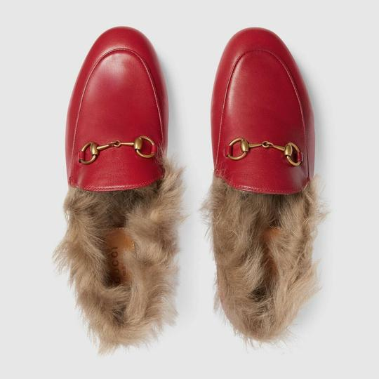 Gucci Loafer Mule Slide Marmont red Flats Image 5