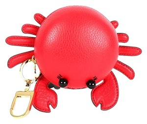 Tory Burch Red Carl The Crab Coin Purse Key Fob Wallet