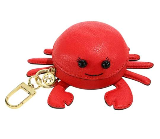Tory Burch Red Carl The Crab Coin Purse Key Fob Wallet Image 1