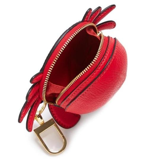 Tory Burch Red Carl The Crab Coin Purse Key Fob Wallet Image 2