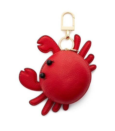 Tory Burch Red Carl The Crab Coin Purse Key Fob Wallet Image 4