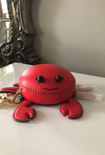 Tory Burch Red Carl The Crab Coin Purse Key Fob Wallet Image 5