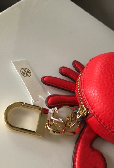 Tory Burch Red Carl The Crab Coin Purse Key Fob Wallet Image 6