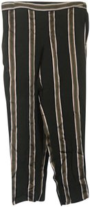 Theory Casual Striped Baggy Pants Olive Green