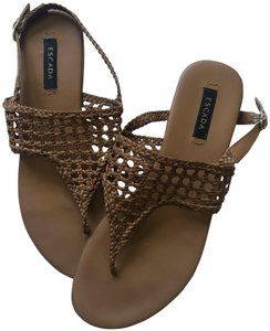 add5a4bfe776e Escada Braided Tan Sandals