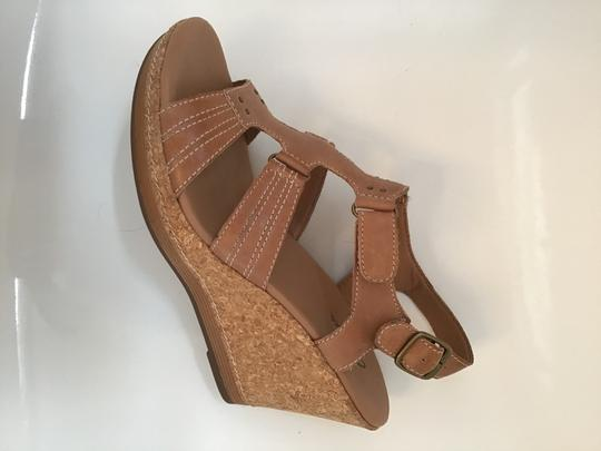 Clarks Tan Wedges Image 1