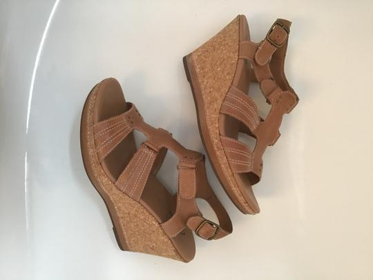 Clarks Tan Wedges Image 2