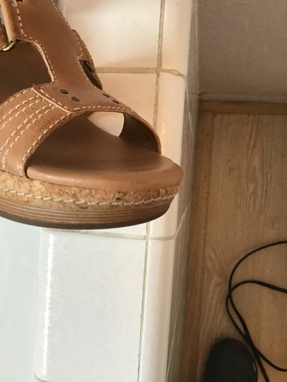 Clarks Tan Wedges Image 3