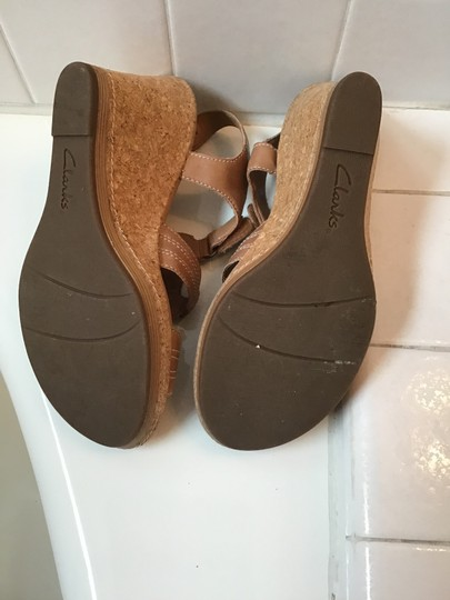 Clarks Tan Wedges Image 4