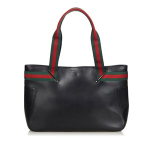 d453bc653d7 Gucci 9cguto118 Vintage Leather Tote in Black