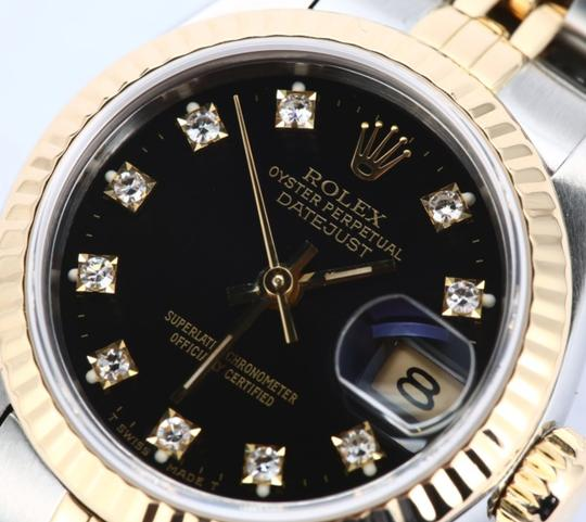 Rolex Ladies Stainless Steel/Yellow Gold Diamond Dial with Fluted Bezel Image 1