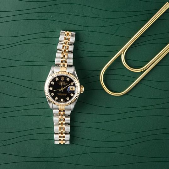 Rolex Ladies Stainless Steel/Yellow Gold Diamond Dial with Fluted Bezel Image 5
