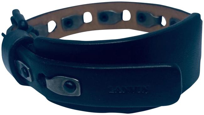Lanvin Black Rivet Detailing Leather Bracelet Lanvin Black Rivet Detailing Leather Bracelet Image 1