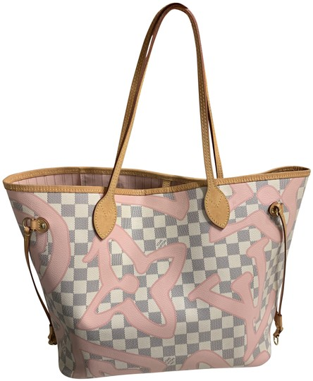Preload https://img-static.tradesy.com/item/25293041/louis-vuitton-neverfull-damier-azur-tahitienne-pink-and-white-canvas-tote-0-2-540-540.jpg