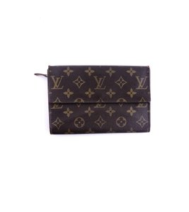 Louis Vuitton Rare Vintage Continental Monogram Canvas Leather Clutch Trifold Wallet