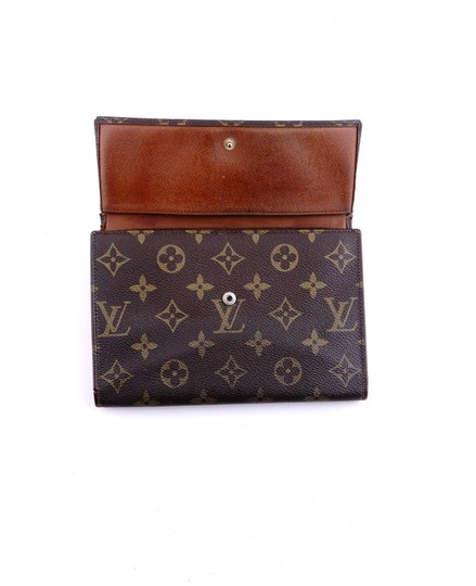 Louis Vuitton Rare Vintage Continental Monogram Canvas Leather Clutch Trifold Wallet Image 3