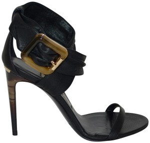Burberry Python Black Sandals