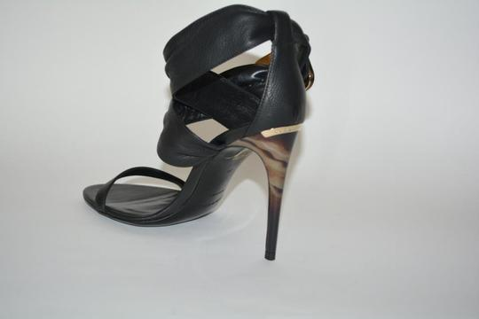 Burberry Python Black Sandals Image 5