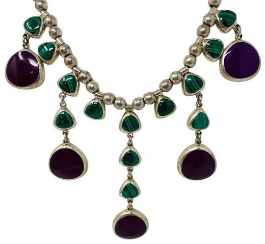 Preload https://img-static.tradesy.com/item/25293250/sterling-silver-purple-and-green-vintage-chandelier-necklace-0-2-540-540.jpg