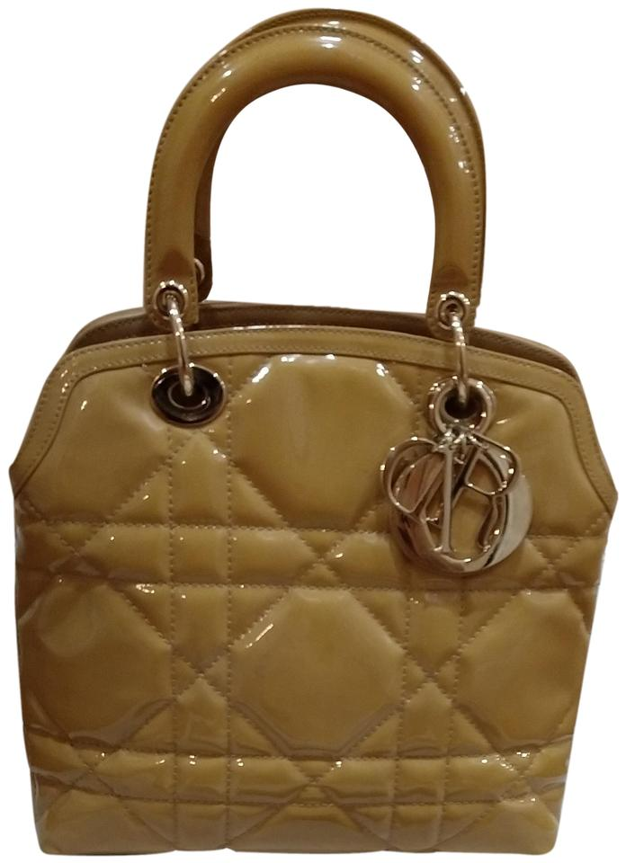 1230e7742a6 Dior Lady Granville Cannage Patent Leather Shoulder Bag - Tradesy