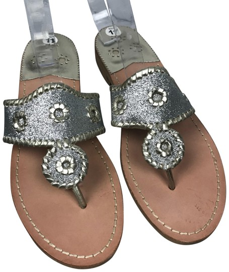 Jack Rogers Silver Sandals Image 0