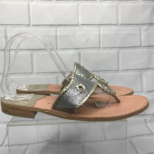 Jack Rogers Silver Sandals Image 1