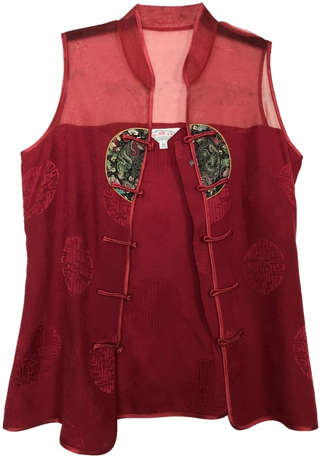 Preload https://img-static.tradesy.com/item/25293355/red-chinese-blouse-size-2-xs-0-1-650-650.jpg