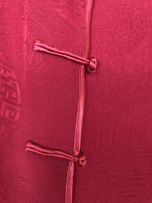 Unknown Silk Top Red Image 3