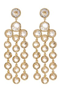 Kate Spade NEW 12K Gold Subtle Sparkle Chandelier Earrings