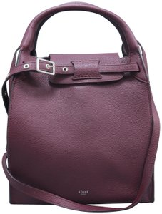 Céline Big Small Calfskin Satchel in Burgundy