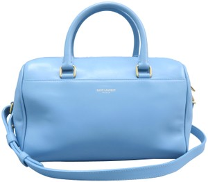 Saint Laurent Duffle Classic Calfskin Satchel in Skyblue