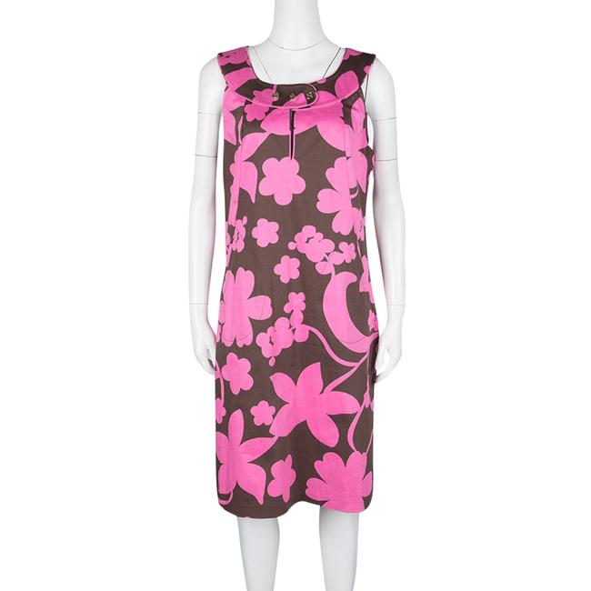 Tory Burch short dress Brown Floral Cotton Sleeveless on Tradesy Image 1
